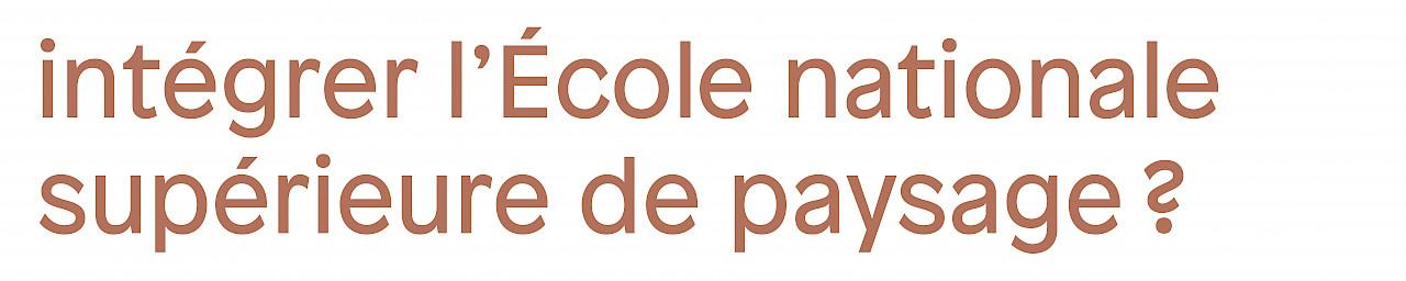 Dès le 22 janvier, toutes les infos sur jpo.ecole-paysage.fr • Découvrez l'offre de formations dans notre